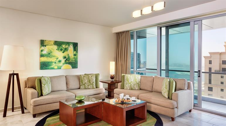 JA Oasis Beach Tower 2 bedroom apartment living room